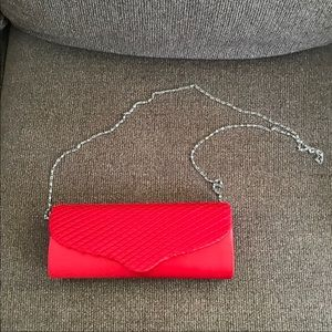 Charming Charlie Small Red Clutch with Strap